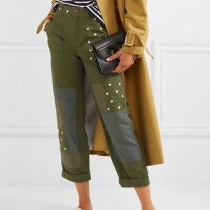 J Crew Patchwork Chino with embroidered flowers